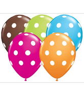 "11"" Big Polka Dots Assorted  (50 ct.)"