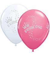 "11"" Glitter Princess Wrap White & Rose 25 Count"
