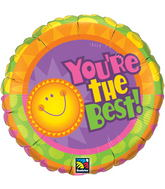 """18"""" You're The Best! Radiant Sun Mylar Balloon"""