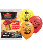"""12"""" Disney Fire Rescue 6 pack Latex Balloons"""