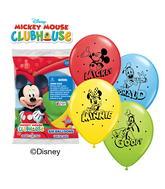 "12"" Mickey & His Pals 6 pack Latex Balloons"