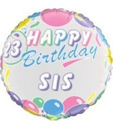 "18"" Happy Birthday Personalize Balloons(without stickers)"