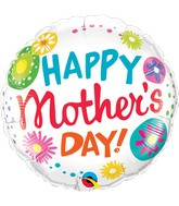 """18"""" Happy Mother's Day Floral Circles"""