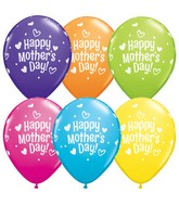 """11"""" Mother's Day Hearts and Dots Latex Balloons (50 ct.)"""