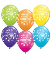 """11"""" Mother's Day Springtime Floral Latex Balloons (50 ct.)"""