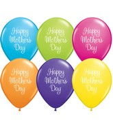 """11"""" Mother's Day Classy Script Latex Balloons (50 ct.)"""
