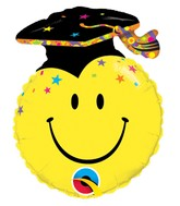 """14"""" Airfill Only Smile Face Party Grad Balloon"""
