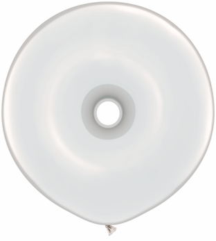 "16"" Geo Donut Latex Balloons (25 Count) Diamond Clear"