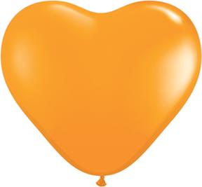 "6"" Heart Latex Balloons (100 Count) Orange"
