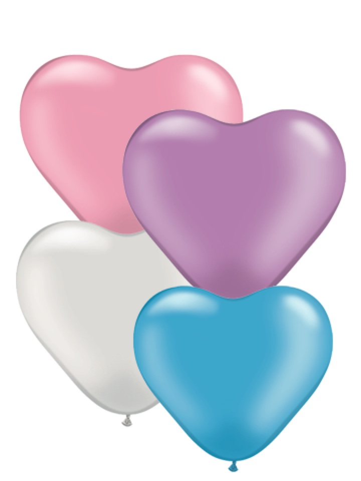 """6"""" Heart Latex Balloons (100 Count) Pearl Assortment"""