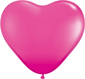 """6"""" Heart Latex Balloons (100 Count) Wild Berry"""