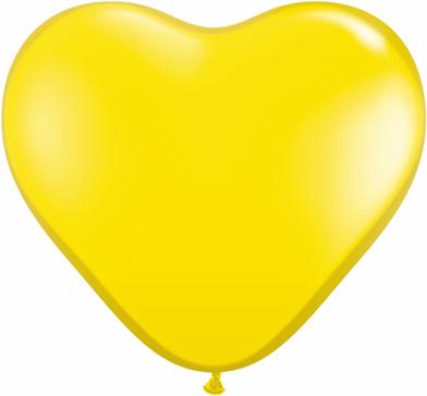 "6"" Heart Latex Balloons (100 Count) Citrine Yellow"