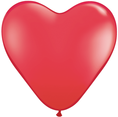 """6"""" Heart Latex Balloons (100 Count) Red"""