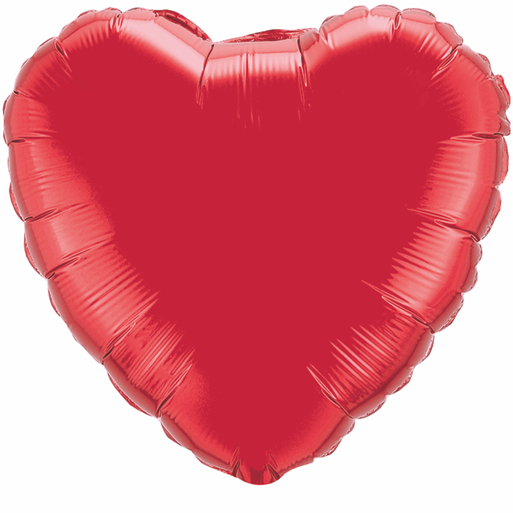 "36"" Heart Foil Mylar Balloon Ruby Red"
