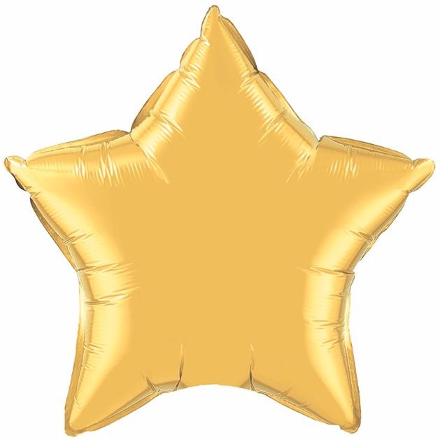 "36"" Star Foil Mylar Balloon Metallic Gold"