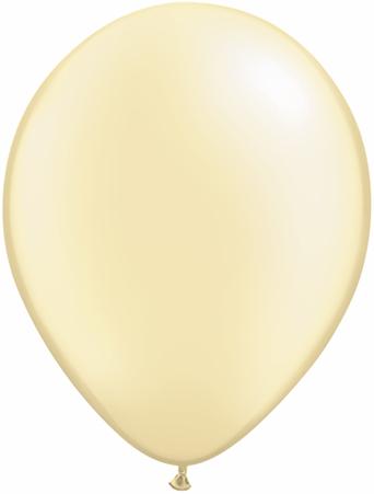 "5""  Qualatex Latex Balloons  Pearl IVORY      100CT"