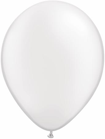 "5""  Qualatex Latex Balloons  Pearl WHITE      100CT"
