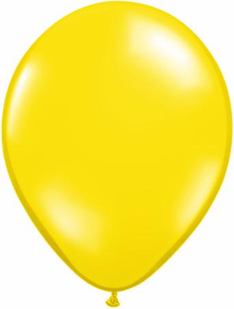 "9""  Qualatex Latex Balloons  CITRON YELLOW    100CT"