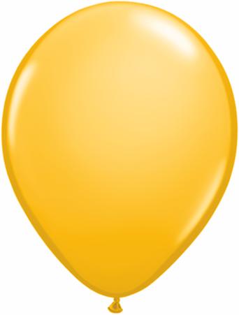 "9""  Qualatex Latex Balloons  GOLDENROD      100CT"