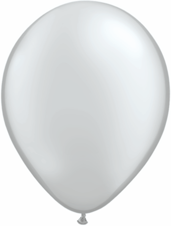 "9""  Qualatex Latex Balloons  SILVER         100CT"