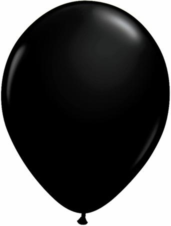 "11""  Qualatex Latex Balloons  ONYX BLACK     100CT"