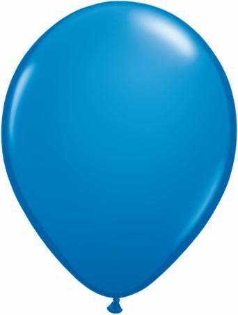 "11"" Qualatex Latex Balloons 25 Per Bag Dark Blue"