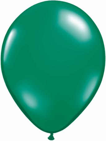 """11"""" Qualatex Latex Balloons 25 Per Bag Jewel Emerald Green"""