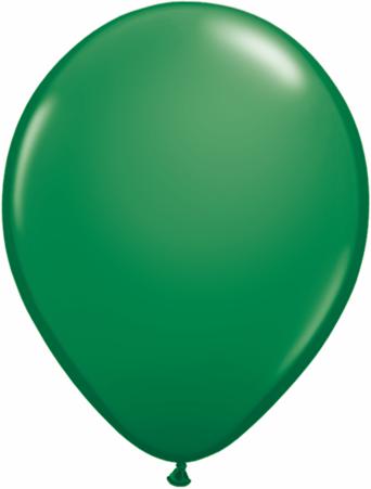 "11"" Qualatex Latex Balloons 25 Per Bag Green"