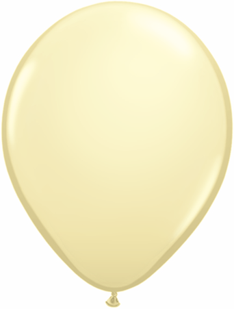 "11"" Qualatex Latex Balloons 25 Per Bag Ivory Silk"