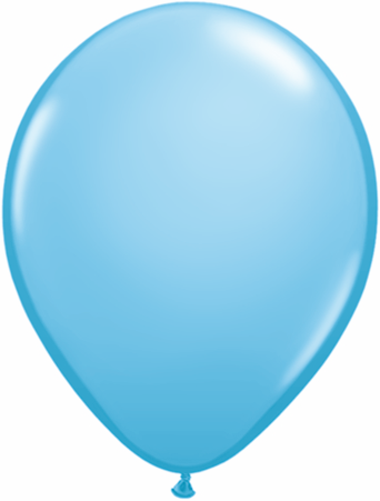 "11"" Qualatex Latex Balloons 25 Per Bag Pale Blue"