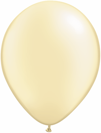 "11""  Qualatex Latex Balloons  Pearl IVORY      100CT"