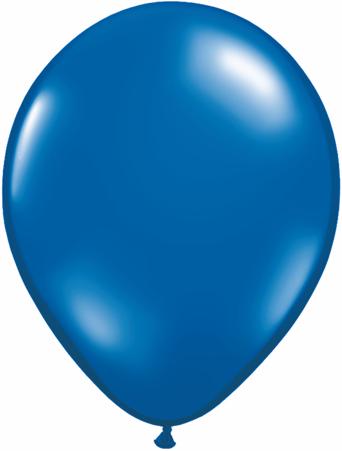 "11"" Qualatex Latex Balloons 25 Per Bag Jewel Sapphire Blue"