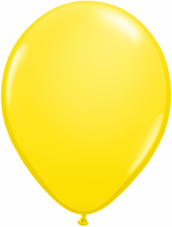 "11"" Qualatex Latex Balloons 25 Per Bag Yellow"