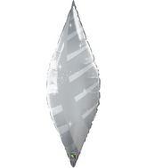 """38"""" Silver Taper Swirl Qualatex Balloon"""