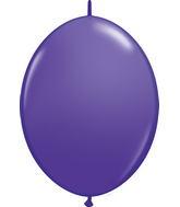 """12"""" Qualatex Latex Quicklink Purple Violet 50 Count"""