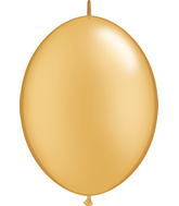 "12"" Qualatex Latex Quicklink Gold 50 Count"