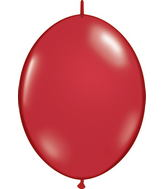 """06"""" Qualatex Latex Quicklink Ruby Red 50 Count"""