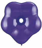 "6"" Geo Blossom Latex Balloons  (50 Count) Quartz Purple"