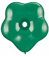 "6"" Geo Blossom Latex Balloons  (50 Count) Emerald Green"