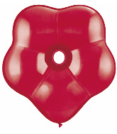 """6"""" Geo Blossom Latex Balloons  (50 Count) Ruby Red"""