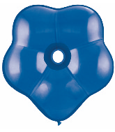 """16"""" Geo Blossom Latex Balloons  (25 Count) Sapphire Blue"""