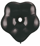 "16"" Geo Blossom Latex Balloons  (25 Count) Onyx Black"