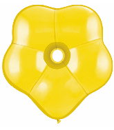 "16"" Geo Blossom Latex Balloons  (25 Count) Citrine Yellow"