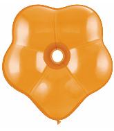 "16"" Geo Blossom Latex Balloons  (25 Count) Mandarin Orange"