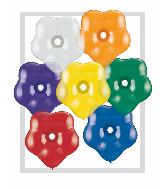 "16"" Geo Blossom Latex Balloons  (50 Count) Jewel Assort"