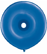 """16"""" Geo Donut Latex Balloons (25 Count) Sapphire Blue"""