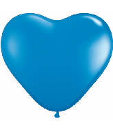 "6"" Heart Latex Balloons (100 Count) Dark Blue"