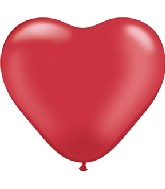 "6"" Heart Latex Balloons (100 Count) Pearl Ruby Red"
