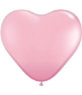 "6"" Heart Latex Balloons (100 Count) Pearl Pink"