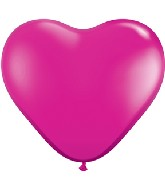 "6"" Heart Latex Balloons (100 Count) Pearl Magenta"
